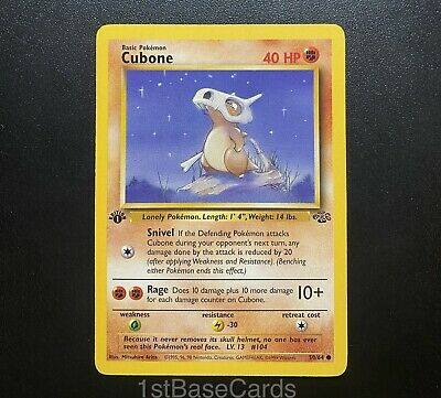 1st Edition Cubone 50/64 Common 1999 WOTC Jungle Pokemon Cards EXCELLENT*