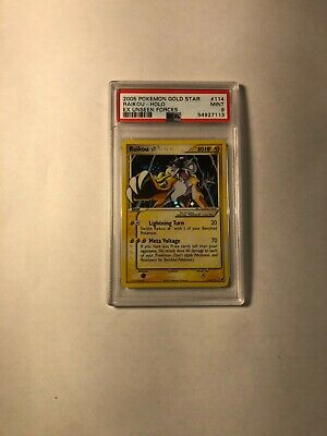 Pokemon Raikou Gold Star EX Unseen Forces 114/115 PSA 9