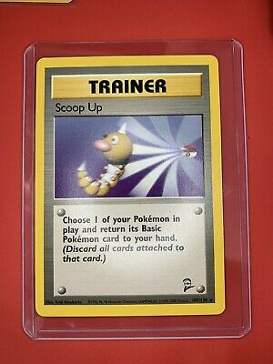 Scoop Up - Base Set 2 - 107/130 - Rare - Pokemon Card - Unplayed Excellent Mint