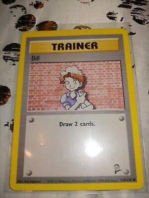 Pokemon Trainer Bill Base Set 2 118/130 buy 4 get 25% off WotC2000 Vintage