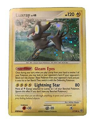 Luxray - Pokemon Card - Diamond Pearl 7/130 - Rare Holo - NM