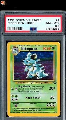 Nidoqueen Holo Rare 1999 WOTC Pokemon Card 7/64 Jungle Set PSA 8.5 NM - MT+