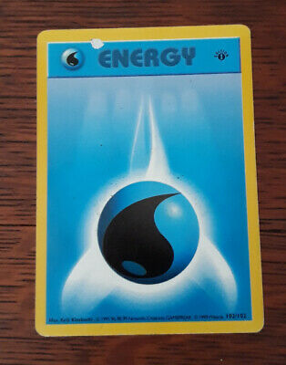 Pokemon Card: Water Energy 102/102 1st Edition Shadowless Base Set! PL