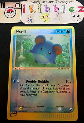 Marill 68/100 NM Reverse Holo EX Sandstorm Pokemon Card. Free Tracked Shipping!