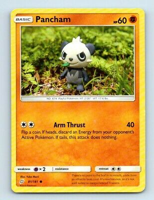 Pancham 81/181 Non-Holo Team Up Pokemon Card d26 ~ Played