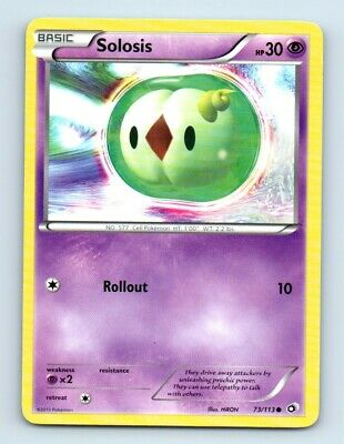 Solosis 73/113 Non-Holo Legendary Treasures Pokemon Card d37 ~ Played