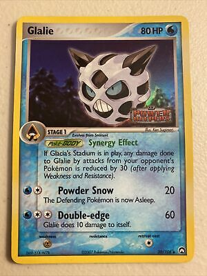 pokemon glalie 30/108  Holo uncommon ex power keepers 2007 Mint