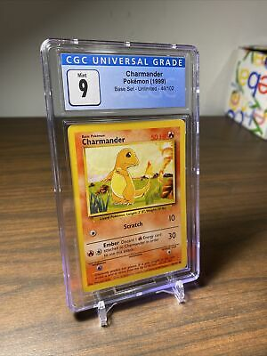 1999 CHARMANDER Pokemon Base Set - CGC 9 MINT