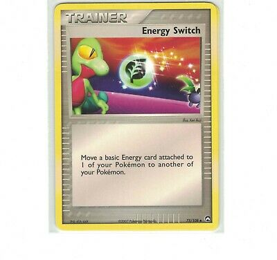 Pokemon EX Power Keepers Energy Switch Trainer Uncommon 75/108 NM