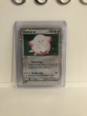 #2 Pokemon Ex Ruby And Sapphire Vintage Chansey Ex Holo Light Play
