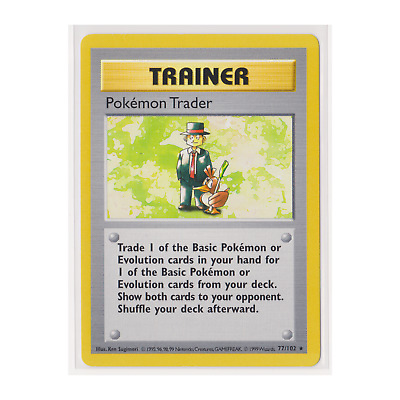 RARE - Pokémon Pokemon Trader (77/102) Base Set - Shadowless