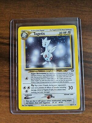 Pokemon - Togetic Neo Genesis Unlimited Holo Partial Swirl 16/111 - Played