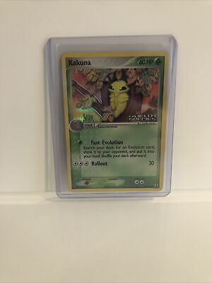 Pokemon Ex Delta Species Stamped Holo Kakuna Psa Good?