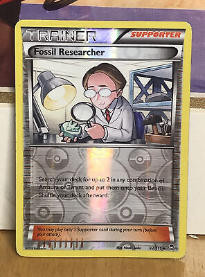 Pokemon 92/111 Fossil Researcher Furious Fists Alternate Holo