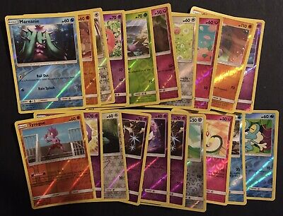 20 X Pokemon Cards Unbroken Bonds Froakie Gastly Togepi Shiny REVERSE HOLO