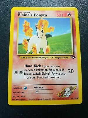 Pokemon Gym Challenge Blaine's Ponyta Common (64/132) NEAR MINT