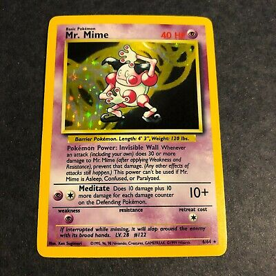 Pokemon TCG Jungle set Card *MR.MIME*-NO Symbol Error card HOLO # 6/64 1999-READ