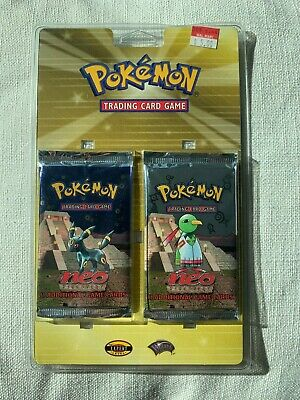Pokemon Neo Discovery Double Booster Pack Blister Pack Umbreon and Xatu New