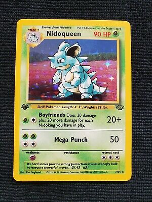 NIDOQUEEN 1st Edition HOLO Jungle Rare Pokemon 1999 PSA READY NM NEAR MINT