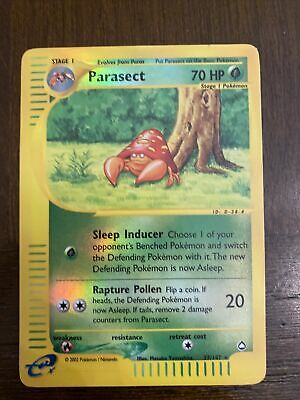 Parasect 27/147 Aquapolis Reverse Holo Rare Pokemon Card NM