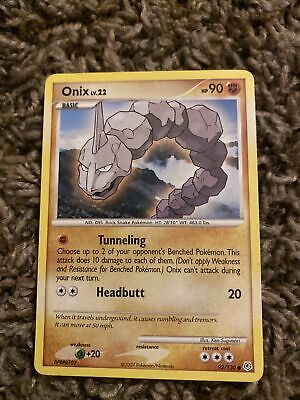 ONIX LV.22 92/130 COMMON NM CARD DIAMOND & PEARL Pokemon