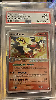 PSA 9 Pokemon Legend Maker Holo Rare Arcanine EX 83/92 MINT!! 🔥