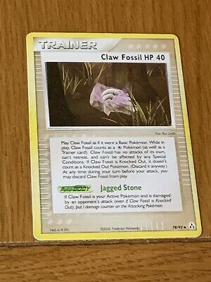 Pokemon Trading Cards EX Legend Maker Trainer Claw Fossil HP 40