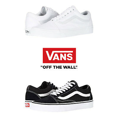 4ce89b45a4e Vans Old Skool Skateboard Classic Black White Mens Womens Sneakers Tennis  Shoes