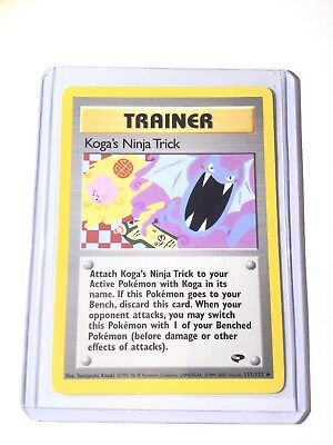 KOGA'S NINJA TRICK - Gym Challenge - 115/132 Trainer Uncommon Pokemon Card - NM