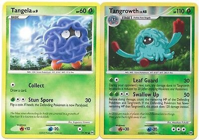 Pokemon Cards: Tangrowth REVERSE HOLO 10/99 & Tangela 77/99 Arceus Set Rare! NM