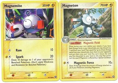 Pokemon Cards: Magneton 16/108 & Magnemite 54/108 Power Keepers Set Rare! NM