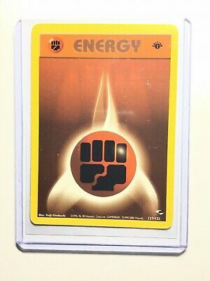 FIGHTING ENERGY - 1st Edition Gym Heroes  - 127/132 - Energy - Pokemon - NM
