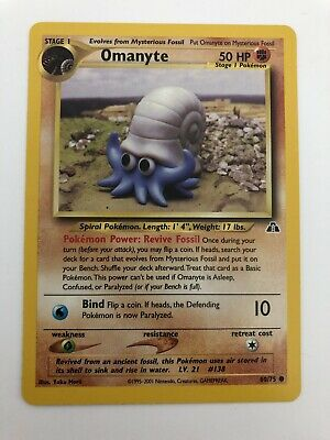 Omanyte 60/75 - Common Pokemon Card - Neo Discovery Set - Wizards of the Coast