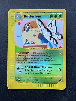 NM Butterfree - 5/165 - Reverse Holo Expedition Base Set Pokemon