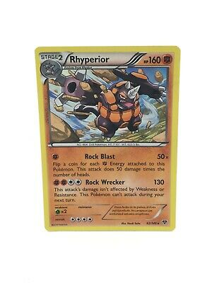 Pokemon Card- Rhyperior 62/146- Holo- XY- Excellent Condition