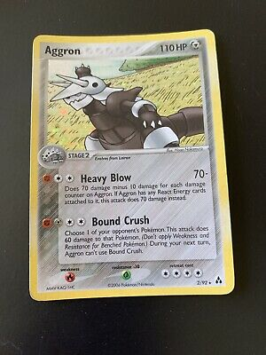 Holographic 2006 Aggron Pokemon Card Legend Maker 2/92