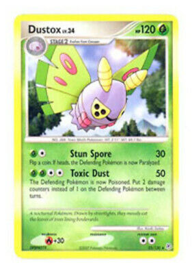 1x Dustox - 25/130 - Rare - Reverse Holo Lightly Played Pokemon Diamond & Pearl
