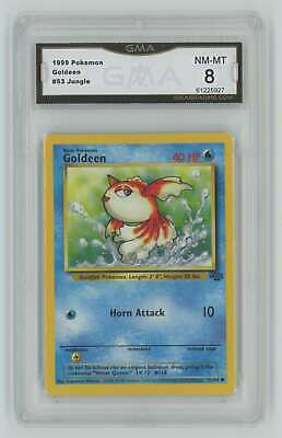 1999 Pokemon Jungle Unlimited #53 Goldeen Graded GMA 8 Nm-Mt Z12
