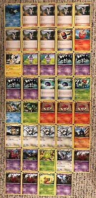 37 Emerging Powers Pokemon Cards - Scolipede/Crushing Hammer/Lilligant/Emolga