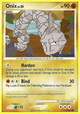 1x Onix - 69/100 - Common - Reverse Holo Lightly Played Pokemon Diamond & Pearl