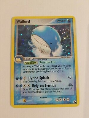 Wailord Holographic 14/92 EX Legend Maker, Condition MP Pokemon