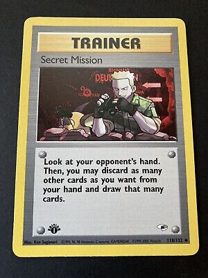 Secret Mission 1st Edition Gym Heroes Pokemon Card 118/132 Near Mint
