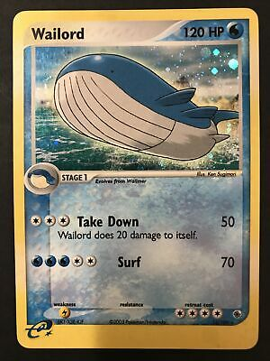 Wailord 14/109 Holo Never Played - EX Ruby & Sapphire Pokemon Card Near Mint