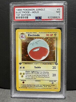 PSA 7 Electrode Holo 1st Edition Pokemon Card 1999 JUNGLE Set(Not BGS Or CGC)