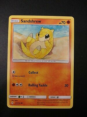 Pokemon Unbroken Bonds Sandshrew Common Card 83/214 NM