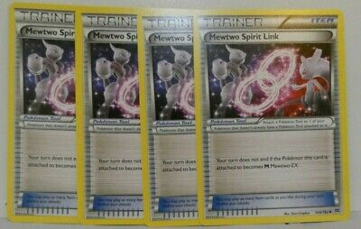 x4 Mewtwo Spirit Link - 144/162 - Uncommon Pokemon XY Breakthrough M/NM English