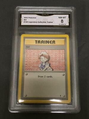 Trainer Bill Gma 8 Nm-mt Low Pop 2002 Legendary Collection Pokemon #108