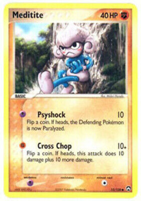 1x Meditite - 55/108 - Common - Reverse Holo NM-Mint Pokemon EX - Power Keepers
