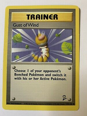 Pokemon Gust of Wind 120/130 Trainer Base Set 2 Common Unlimited 2000 Non Holo