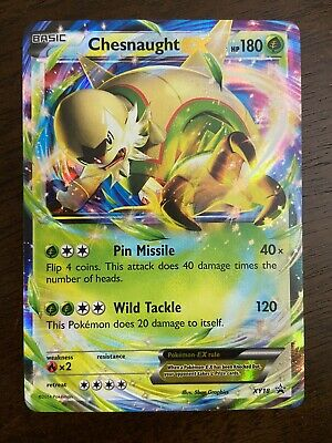 chesnaught ex xy18 Ultra Rare Holo Promo Pokemon Card Played Decent Condition